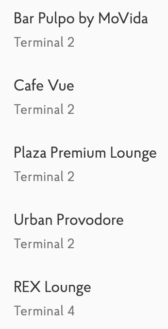 Melbourne Priority Pass eateries