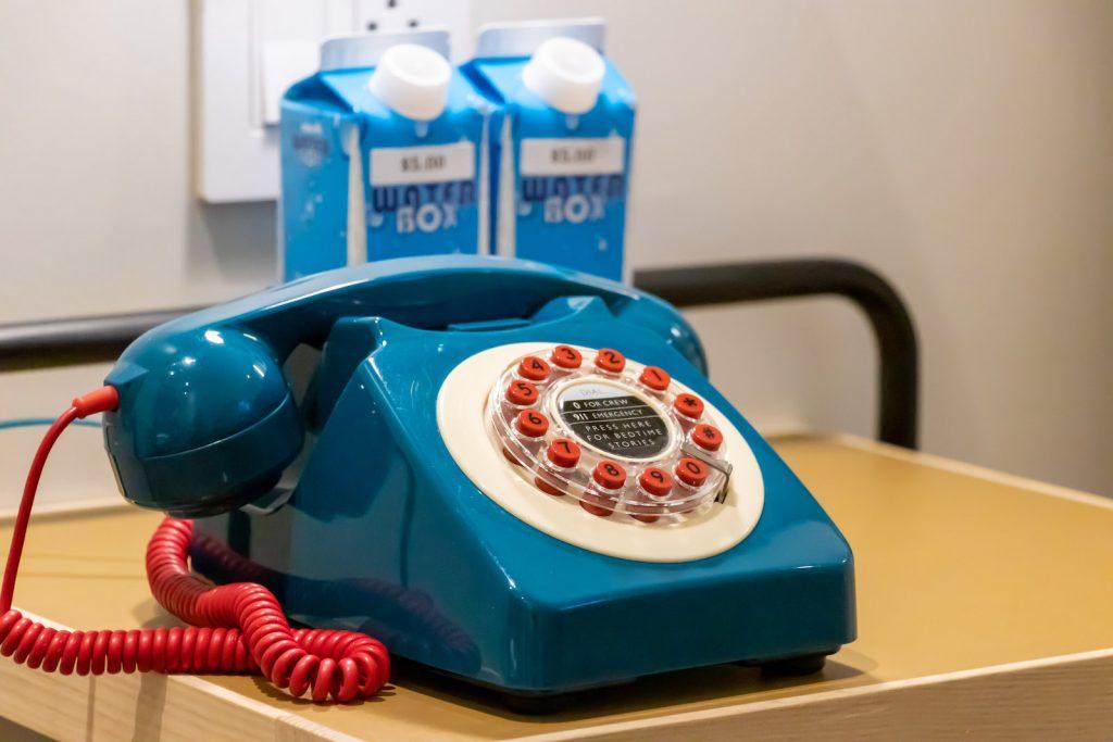 Moxy New York Times Square Bedroom vintage phone