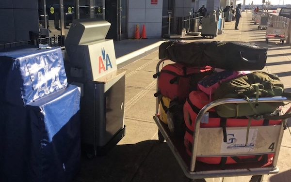 American Airlines kerbside check-in