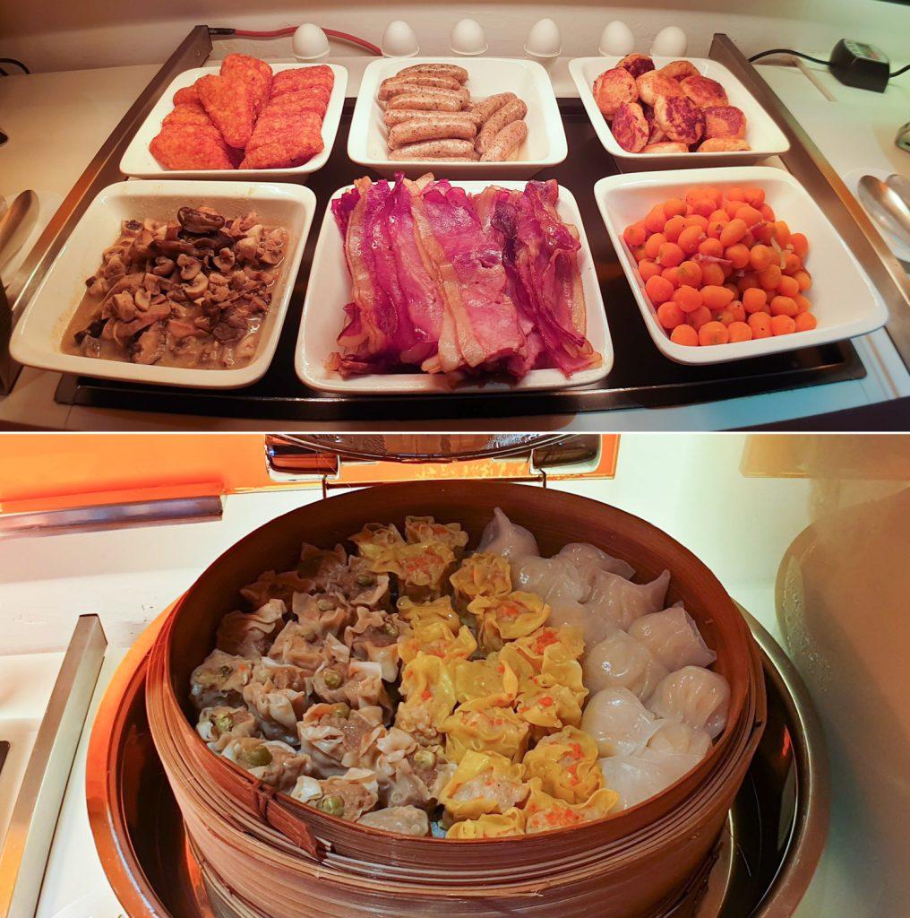 Novotel Century Hong Kong Premier Club Lounge food