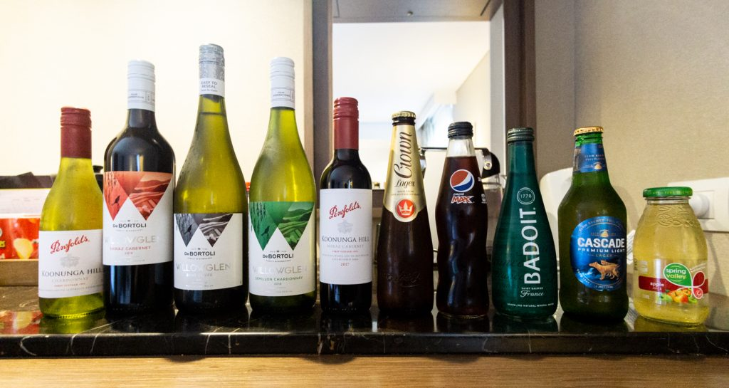 Melbourne Marriott Hotel mini bar