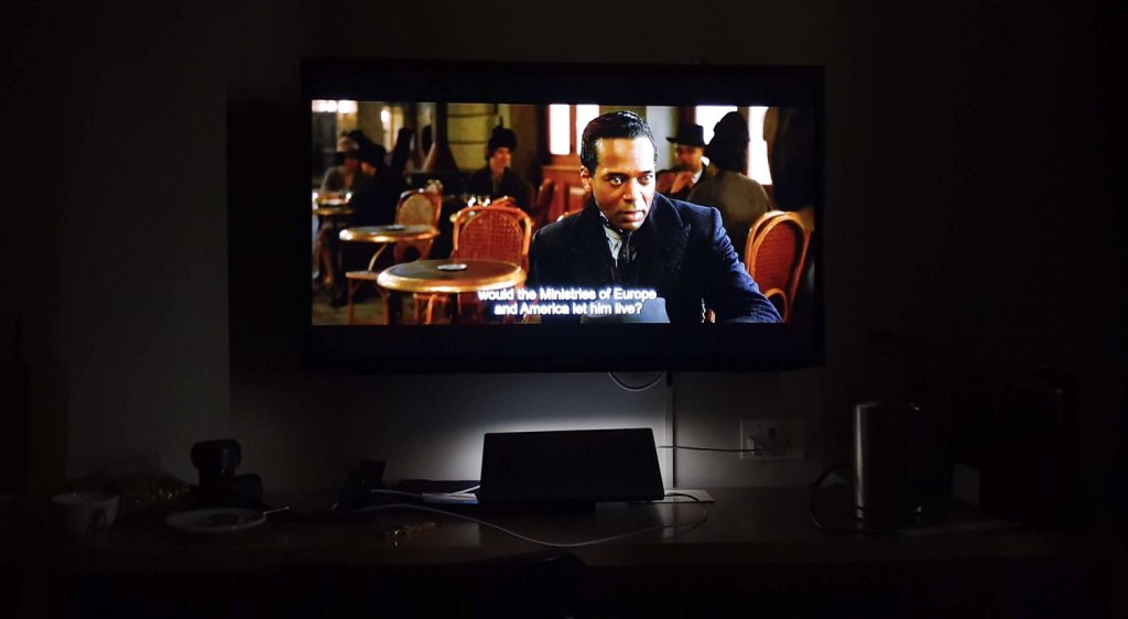 DoubleTree Hilton Melbourne King Room watching HD movie