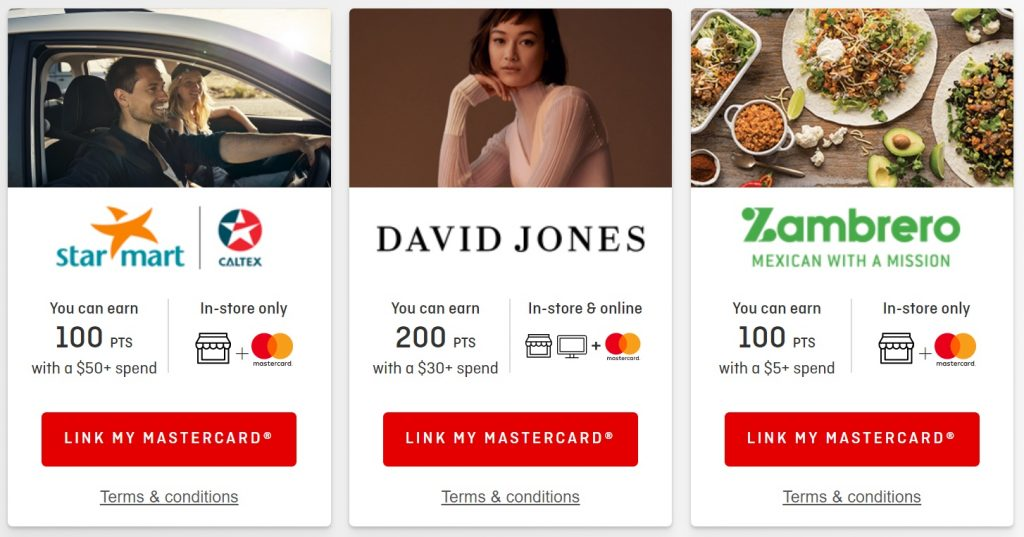 Earning Qantas Points - Qantas shopping card