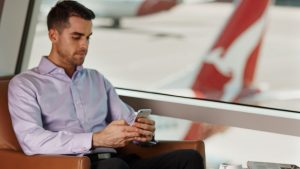 Qantas Business Rewards stock photo