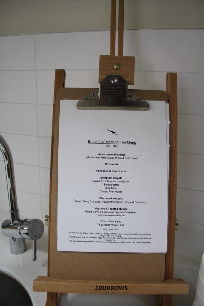 15 Qantas Lounge Mackay breakfast/morning teafood menu