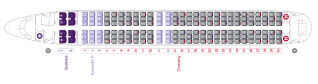 Virgin Australia 737 seat map