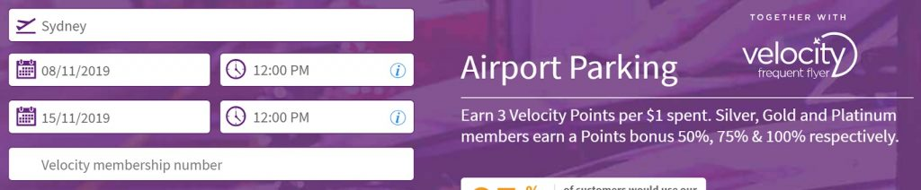 Earning more Velocity Points - Parking