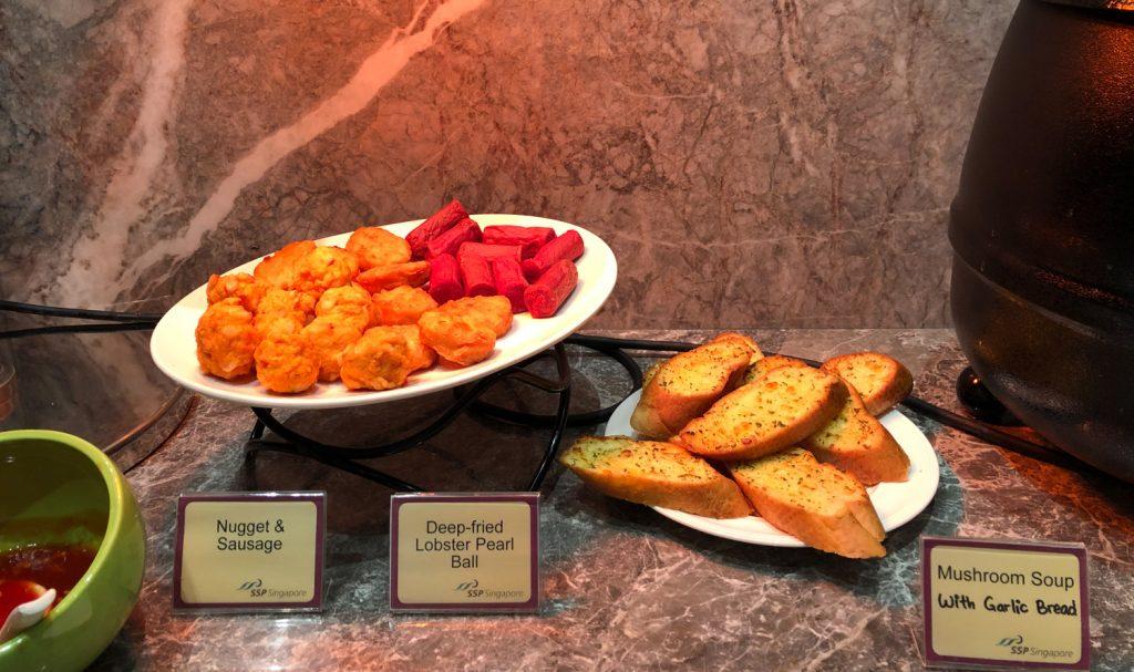 Changi Lounge Jewel Singapore food