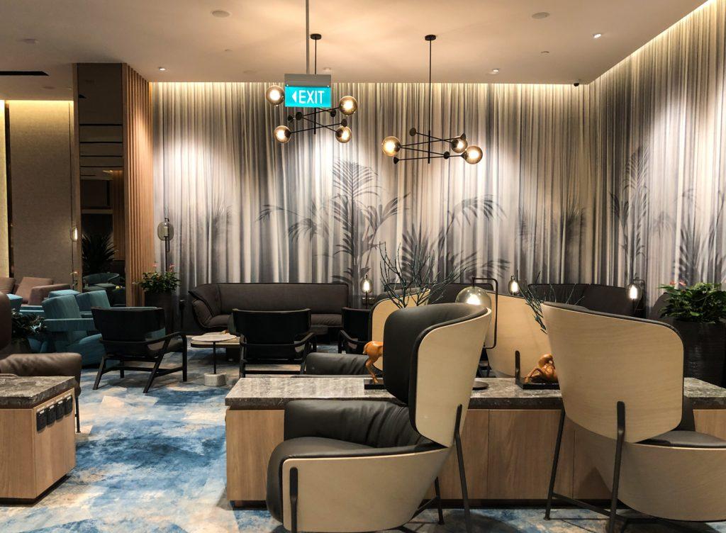 Changi Lounge Jewel Singapore seating
