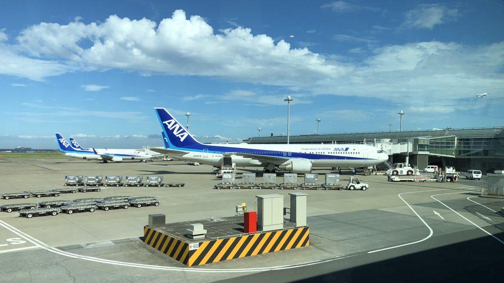 ANA planes at Tokyo Haneda