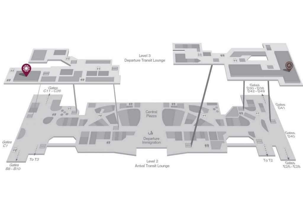Plaza Premium Lounge Singapore location map
