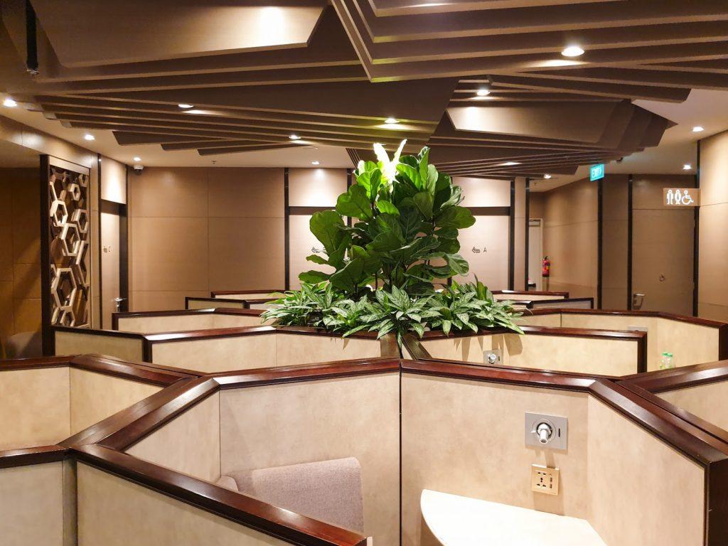 Plaza Premium Lounge Singapore Seating