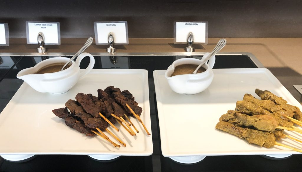Emirates Lounge Singapore food