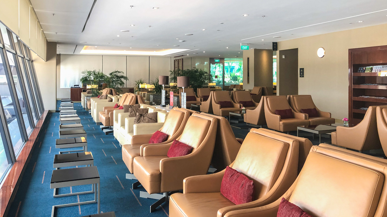 Emirates Lounge Singapore seating