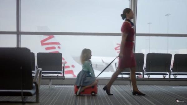 Virgin Australia - child in airport