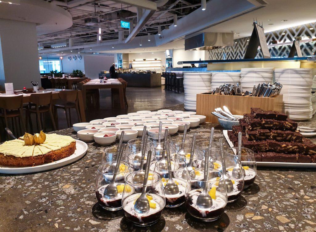 Qantas Singapore Lounge desserts