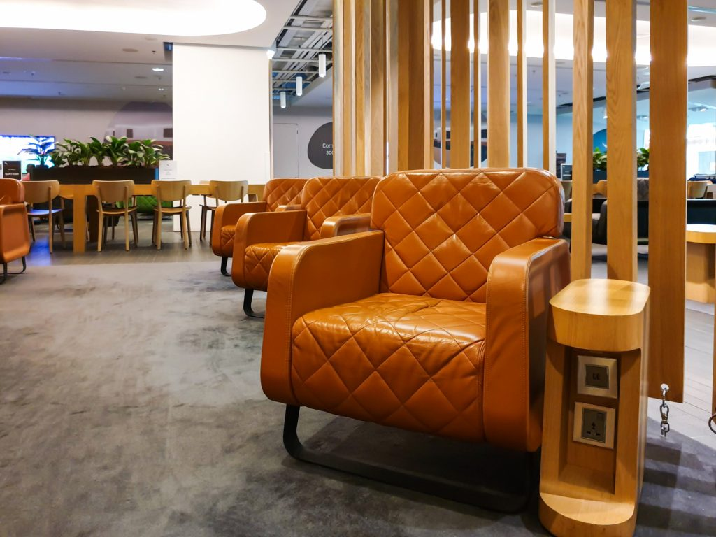 Qantas Singapore Lounge layout - 7