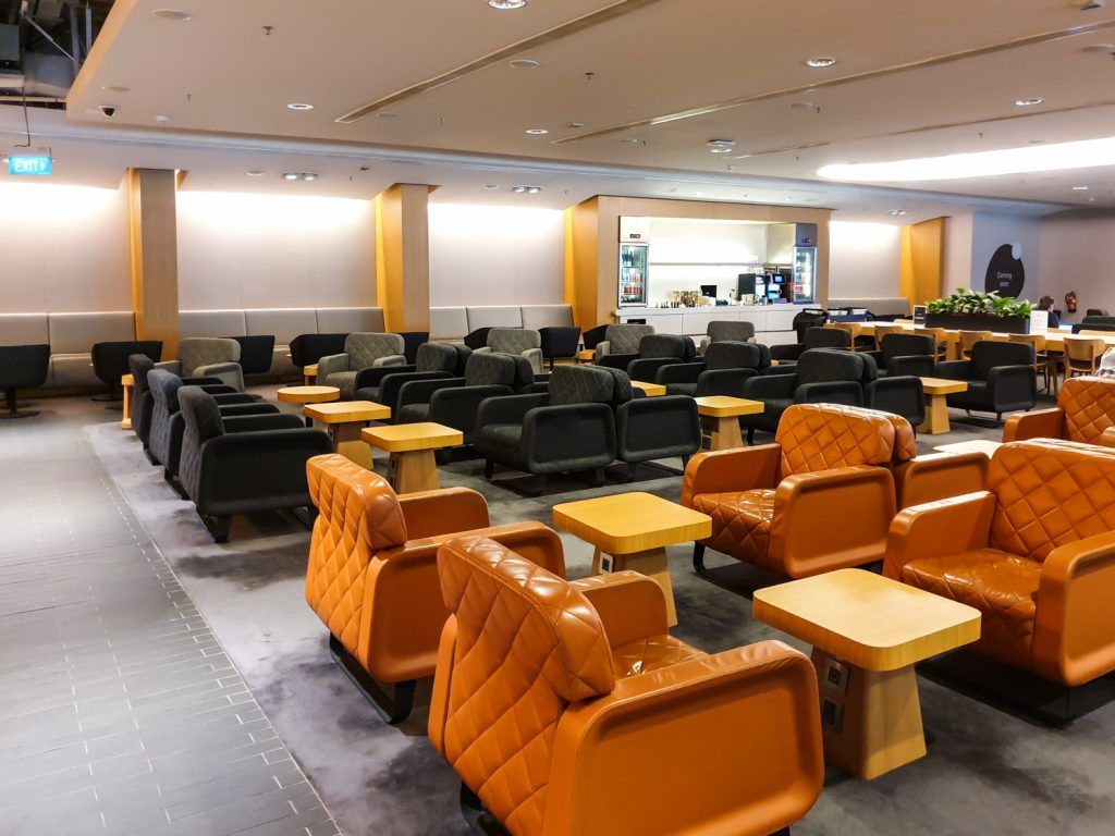 Qantas Singapore Lounge layout - 6