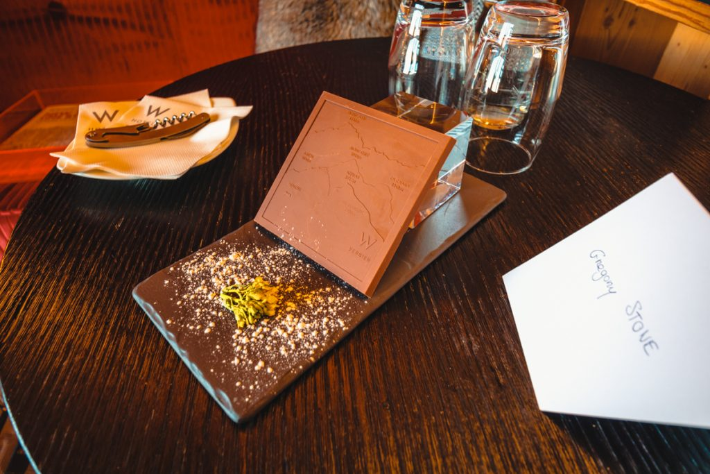 W hotel Verbier - welcome chocolates