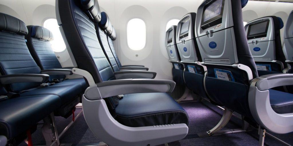 United Economy seat