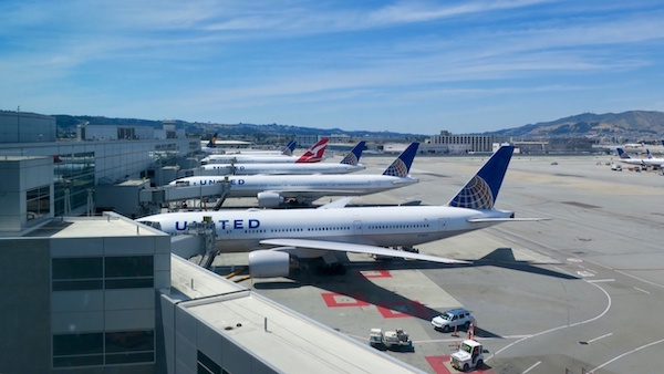 United Airlines planes on tarmac