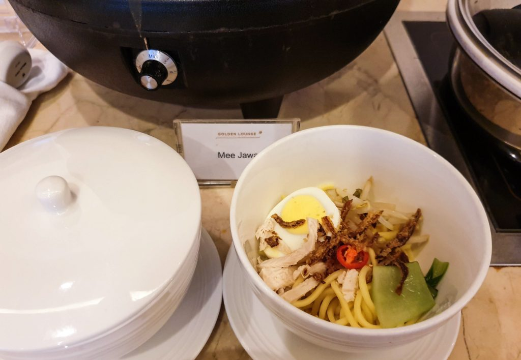 Malaysia Airlines Golden Lounge food