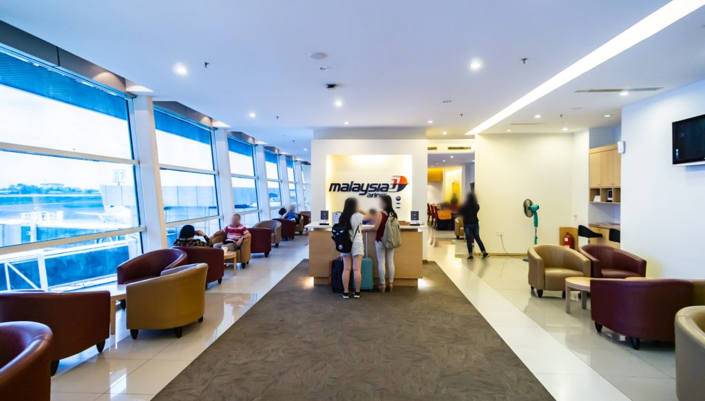 Malaysia Airlines Golden Lounge entrance counter