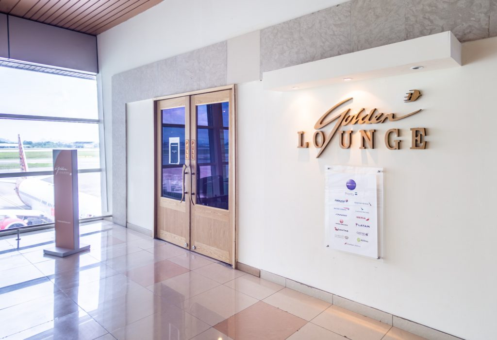 Malaysia Airlines Golden Lounge entrance