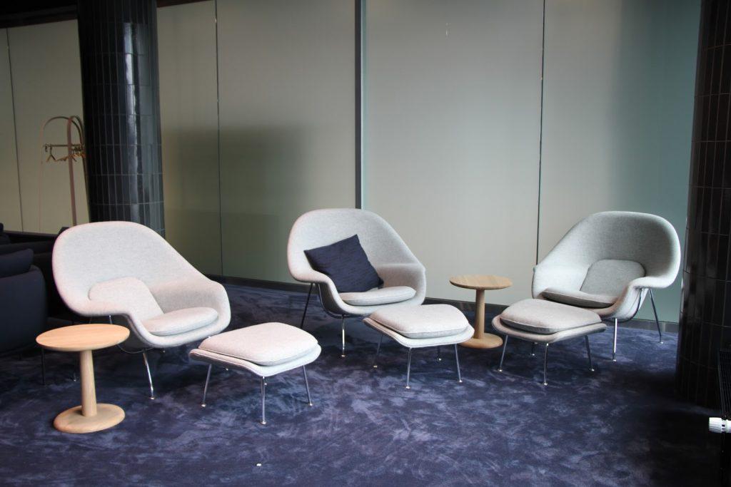 Finnair Platinum Wing Helsinki chairs