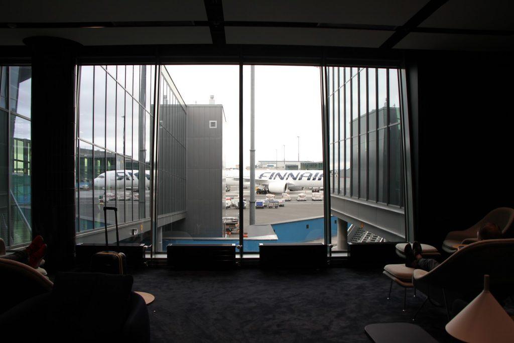 Finnair Platinum Wing Helsinki view