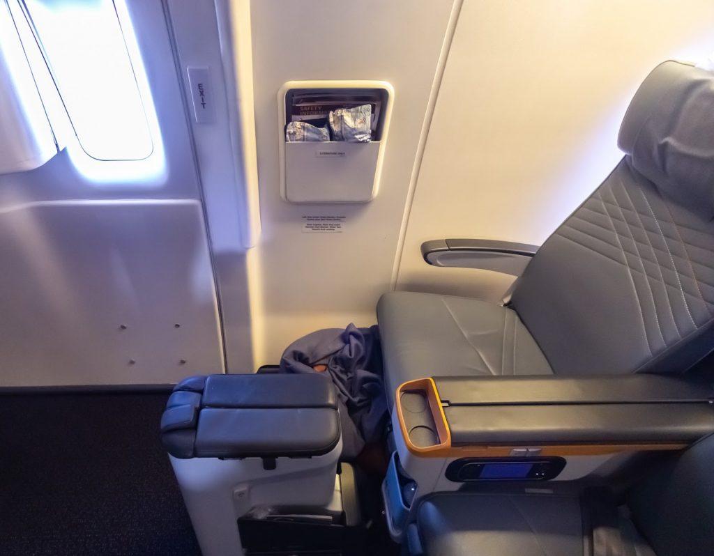 Singapore Airlines Premium Economy exit row seat 2