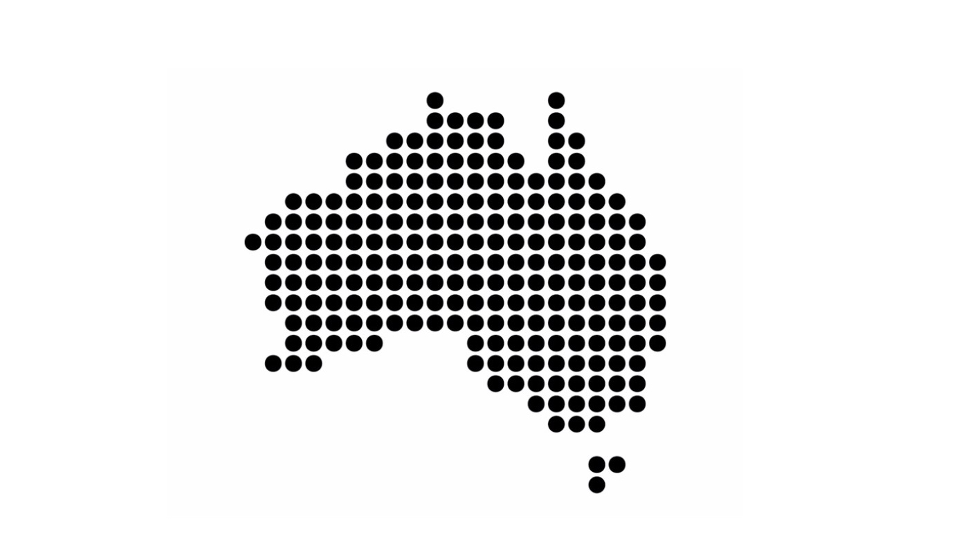 Australia shape dot | Point Hacks