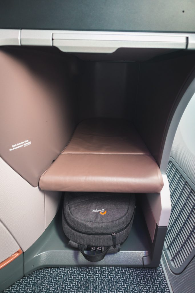 Singapore Airlines 787-10 Business Class foot cubby