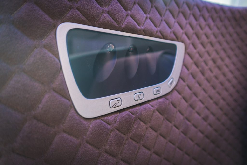 Singapore Airlines 787-10 Business Class spot lights