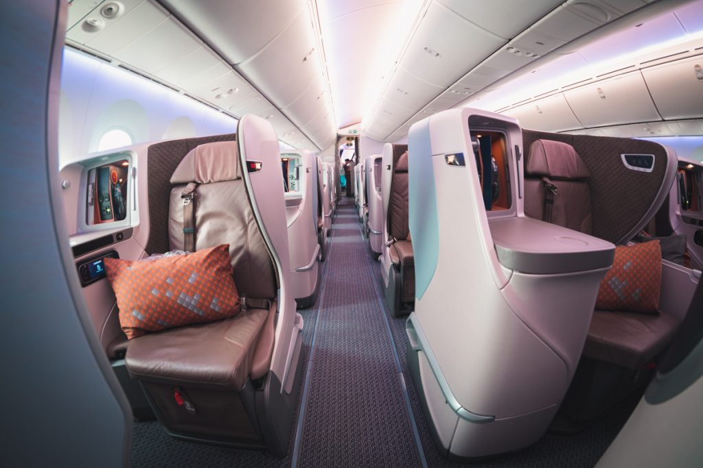 Singapore Airlines 787-10 Business Class isle