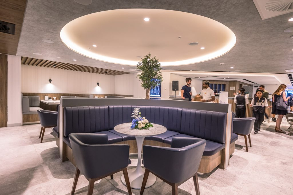 New American Express Lounge Sydney seating