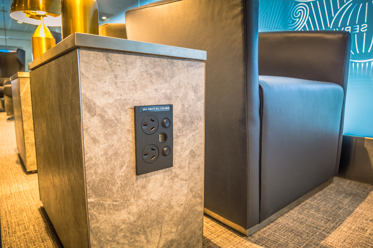 New American Express Lounge Sydney power ports