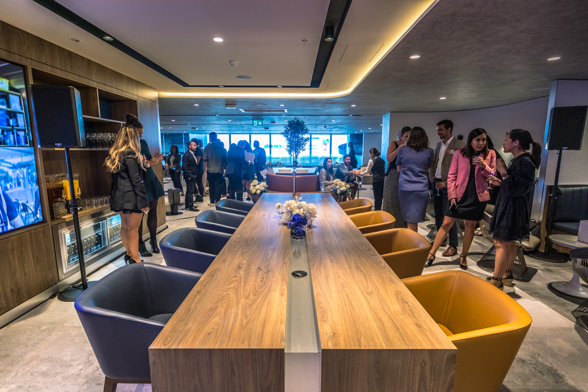 New American Express Lounge Sydney table