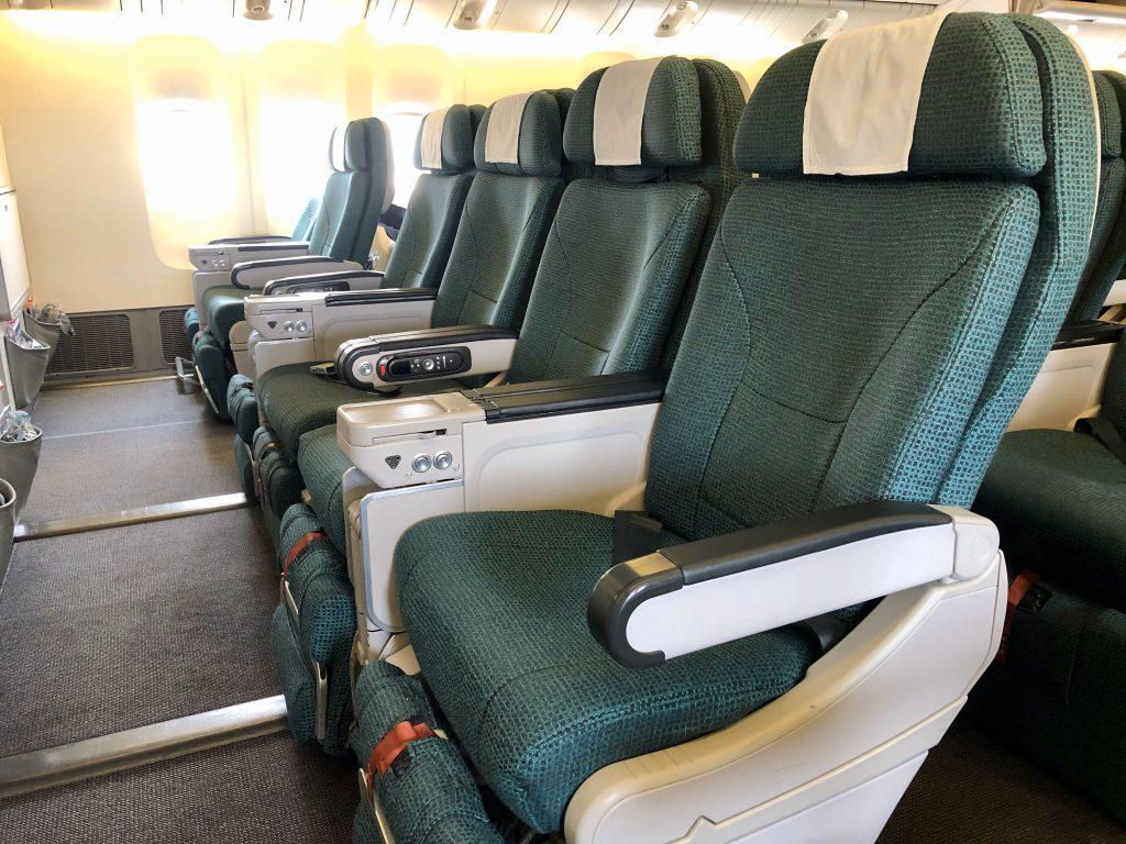 Cathay Pacific 777-300ER Premium Economy Class seat