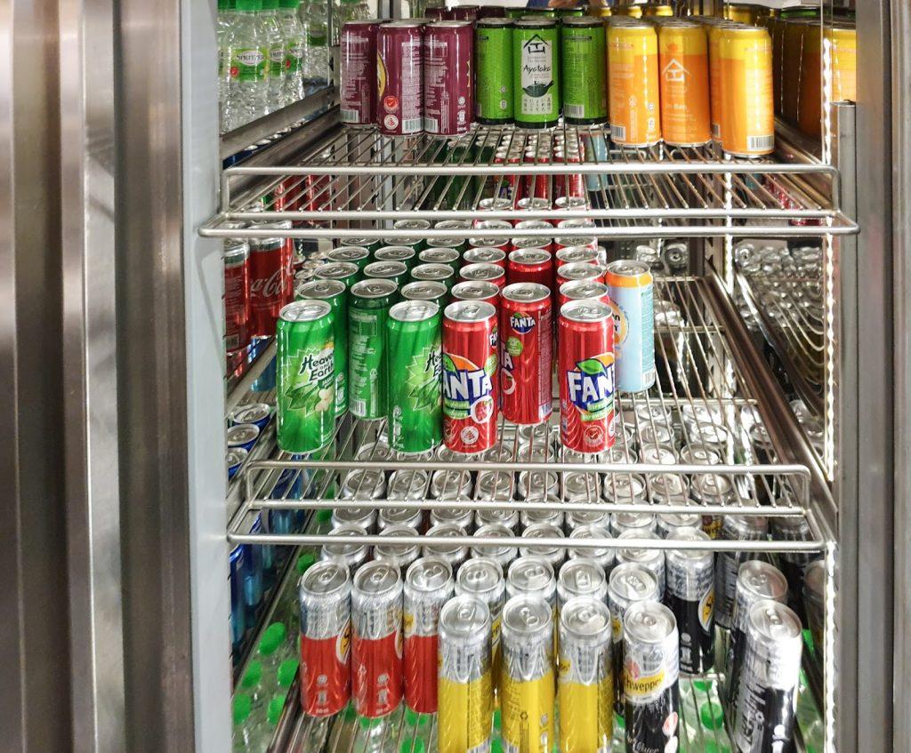 Plaza Premium KLIA Satellite canned drinks