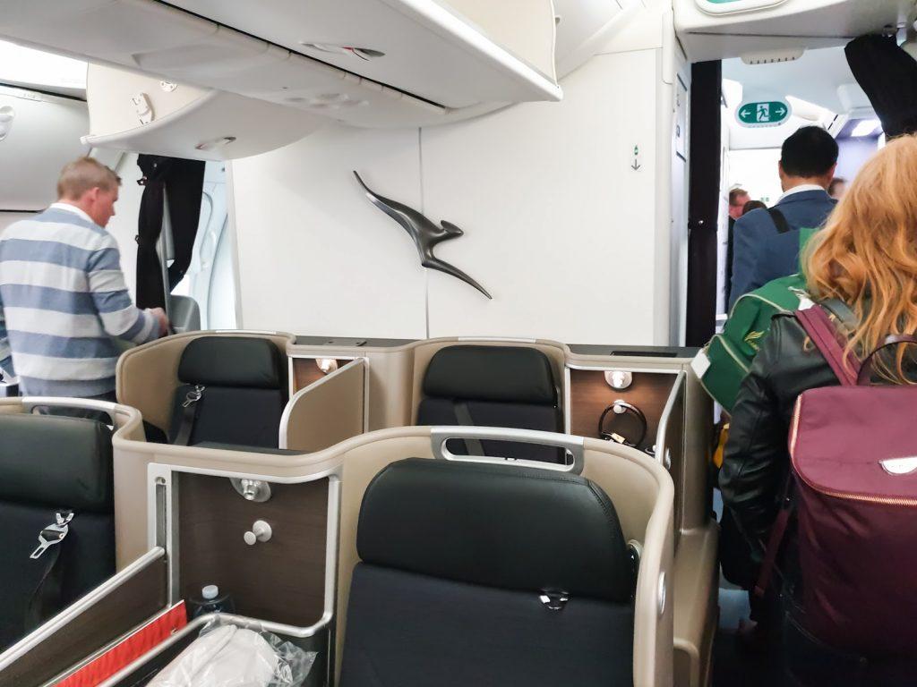 QF9 Qantas 787 Business Class seat 1