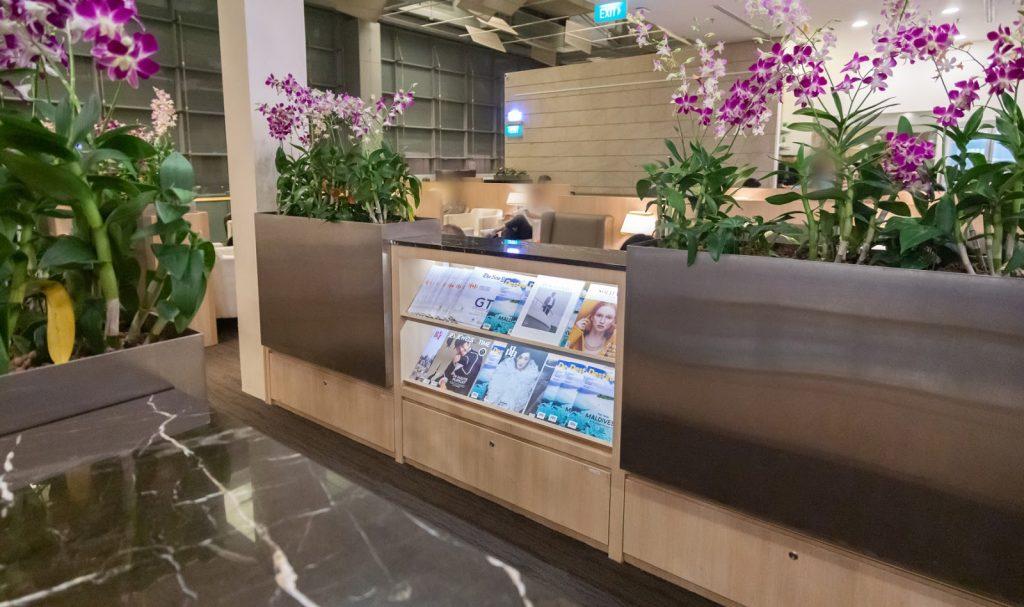 SATS Premier Lounge Changi T3 magazines