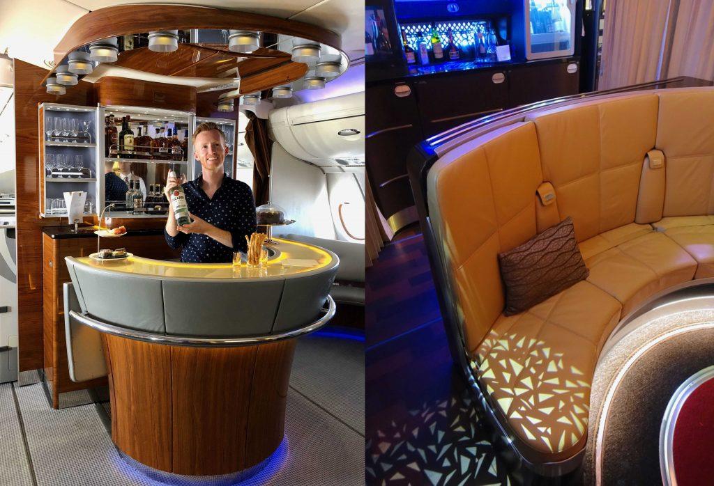 Emirates vs Etihad A380 First Class bar