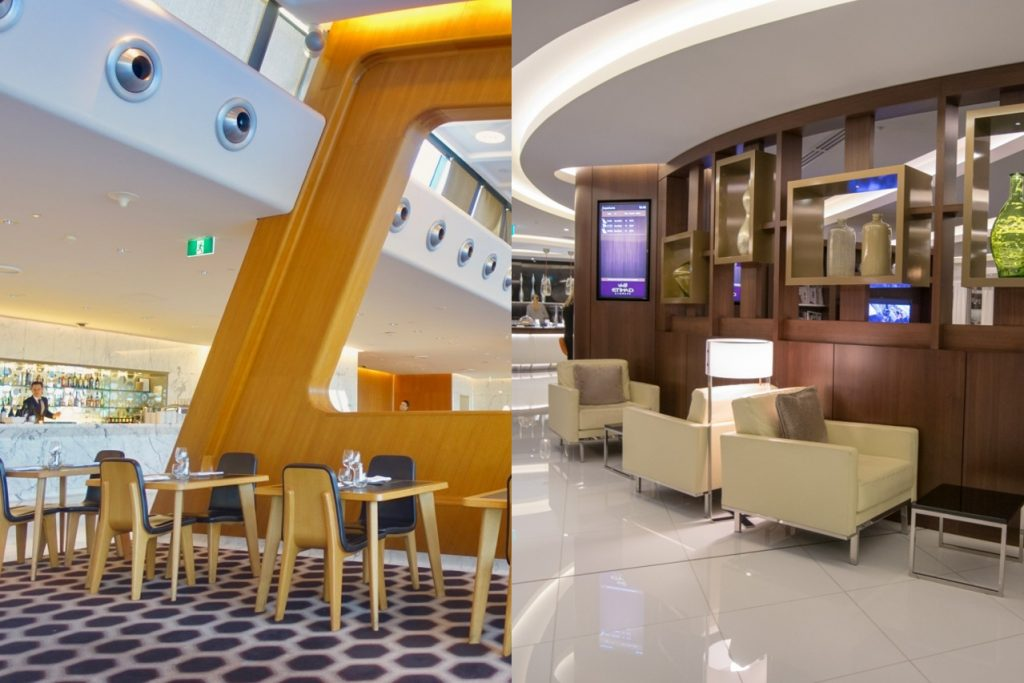 Emirates vs Etihad First Class lounge options in Sydney