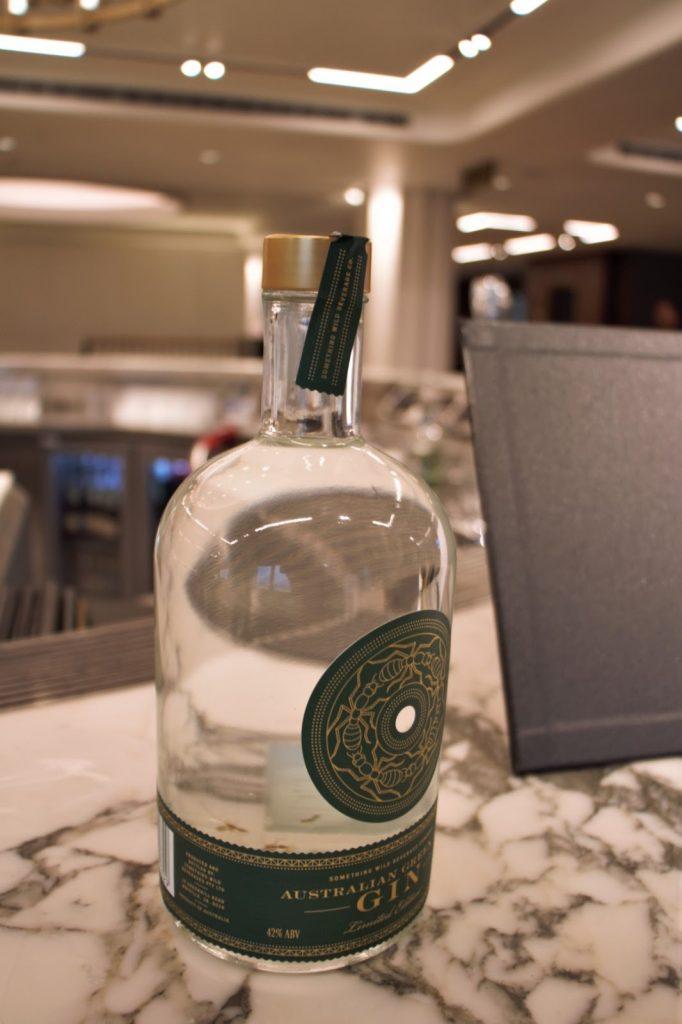 Qantas International London Lounge Australian Green Ant Gin