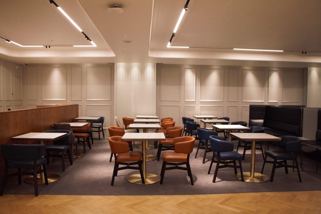 Qantas International London Lounge more seating