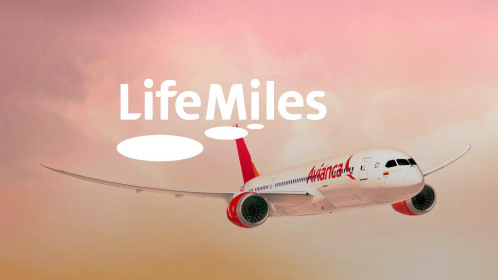 Avianca Plane, Life Miles logo