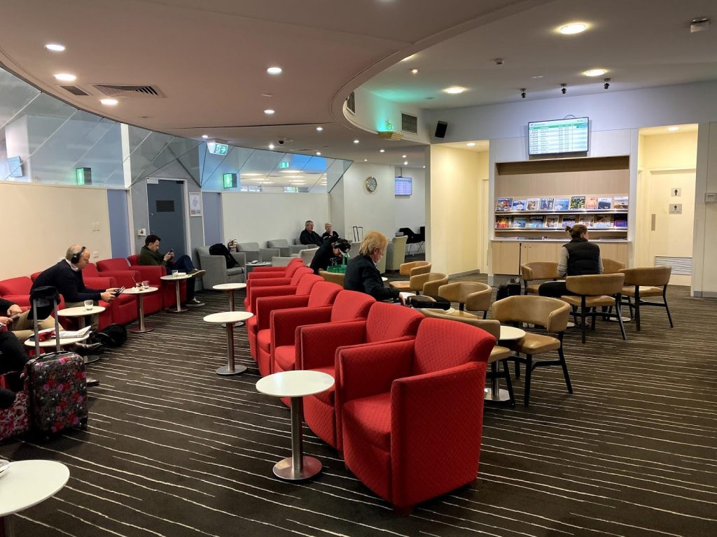 Qantas Club Hobart seating