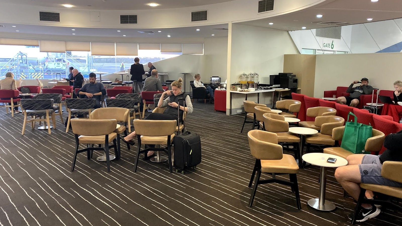 Qantas Club Hobart Lounge