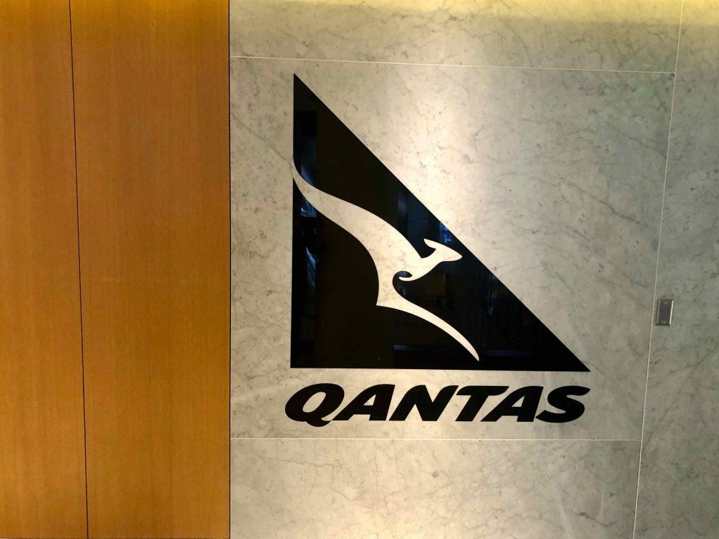 Qantas International First Lounge LAX entrance